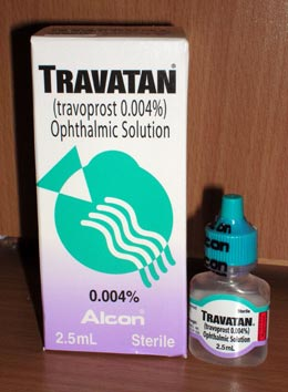 Travatan- an eye drop used to lower pressure in glaucoma