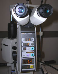 YAG laser for treating secondary cataract and glaucoma